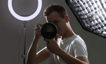 Anneau de lumière sur Trépied pour photographie claire